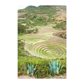 Peru, Moray. Moray Incan Agricultural Laboratory Canvas Print