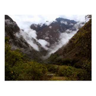 Peru Mountain Valley Near Cusco Postcard
