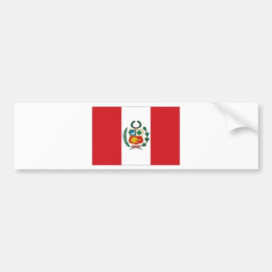 Peru National Flag Bumper Sticker