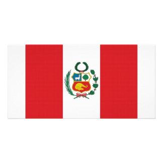 Peru National Flag Picture Card