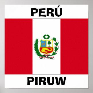 Peru National Flag Poster