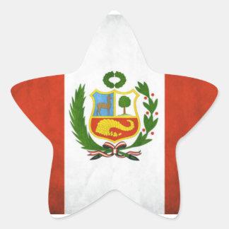 Peru National Flag Star Sticker