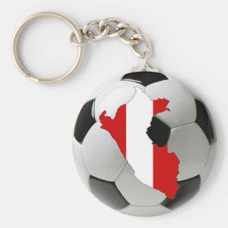 Peru national team basic round button keychain