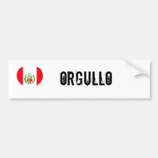 Peru orgullo (pride) car bumper sticker