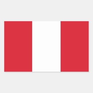 Peru/Peruvian (Civil) Flag Rectangle Stickers