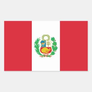 Peru/Peruvian Flag Rectangular Stickers