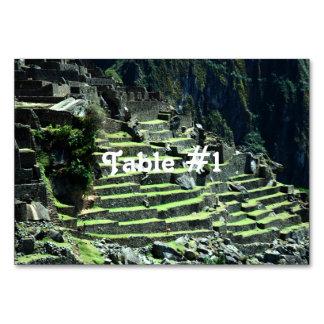 Peru Ruins Table Card