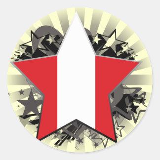 Peru Star Sticker