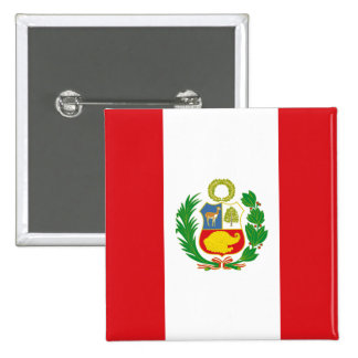 Peru State Flag Button