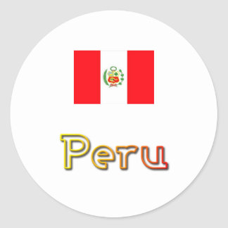 Peru sunset round stickers