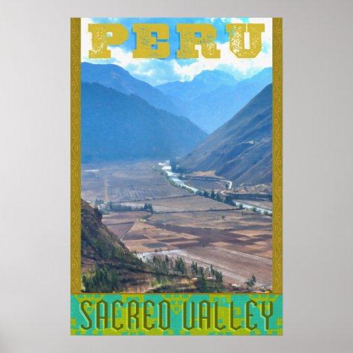 Peru Travel Poster - Incan Sacred Valley