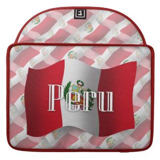 Peru Waving Flag MacBook Pro Sleeves