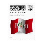 Peru Waving Flag Stamp
