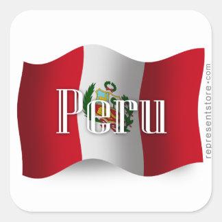 Peru Waving Flag Sticker