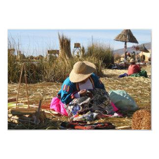 Peru Woman Sewing Embroidery Card