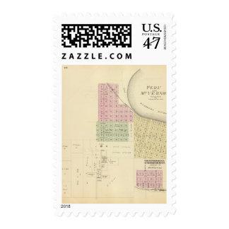 Perú y el Monte Vernon, Nebraska Timbres Postales