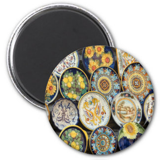 Perugia Pottery 2 Inch Round Magnet