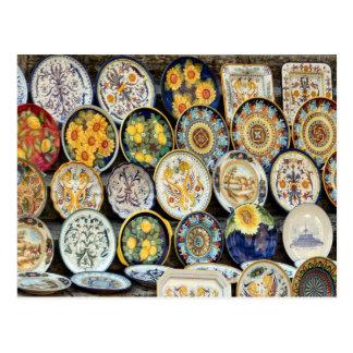Perugia Pottery Postcard