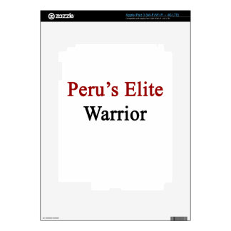 Peru's Elite Warrior Decal For iPad 3