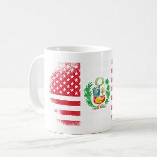 Peruvian American Flag   Peru and USA Design Coffee Mug