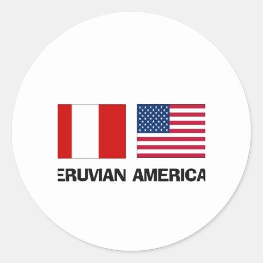Peruvian American Round Sticker