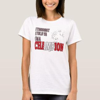 Peruvian and a Champion T-Shirt