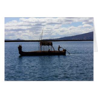 peruvian boat card