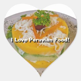 Peruvian Causa - Why I Love Peru Heart Stickers