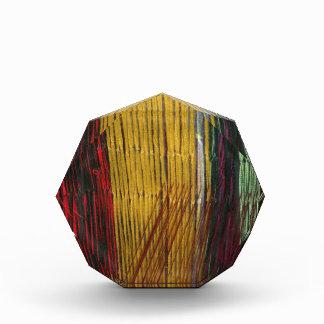Peruvian colors acrylic award