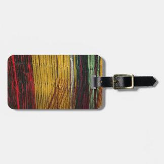 Peruvian colors luggage tag