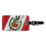 PERUVIAN flag Bag Tag
