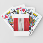Peruvian Flag Bicycle Playing Cards