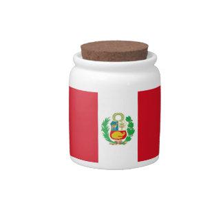 Peruvian Flag Candy Jar