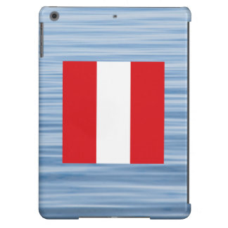 Peruvian Flag Floating on water iPad Air Cases