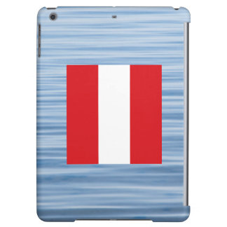 Peruvian Flag Floating on water iPad Air Cover