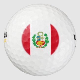 Peruvian flag golf balls