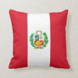 Peruvian Flag on American MoJo Pillow