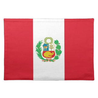 Peruvian Flag on MoJo Placemat Cloth Placemat