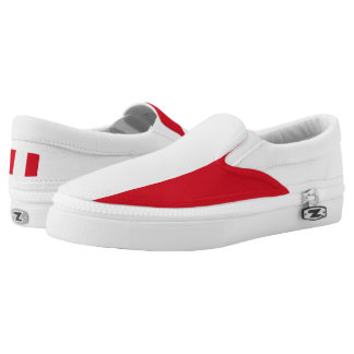 Peruvian flag Slip On Shoes