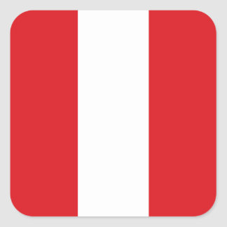 Peruvian Flag Square Sticker