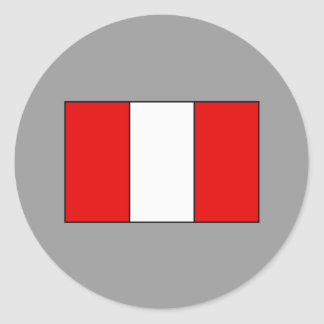 Peruvian Flag T-shirts and Gifts Round Stickers