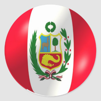 Peruvian Flag With Bubble Sticker