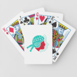 Peruvian Girl Hat Side Icon Bicycle Playing Cards