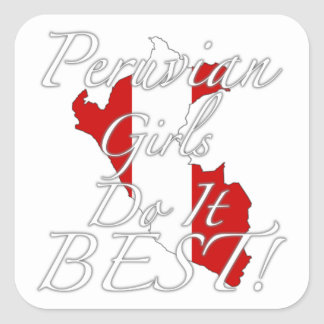 Peruvian Girls Do It Best! Sticker