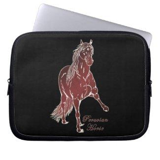Peruvian Horse Woodcut Laptop Sleeve