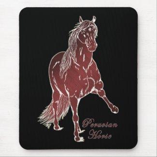 Peruvian Horse Woodcut mousepad