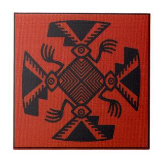 Peruvian Inca Bird Ceramic Tile