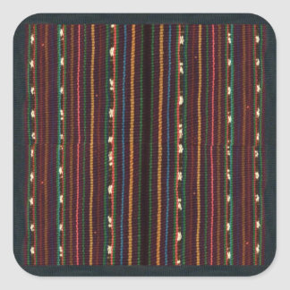 Peruvian Inca Weaving Design Stripes Square Sticker