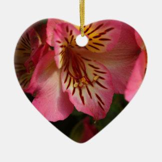 Peruvian lily (Alstroemeria aurea) Ceramic Ornament