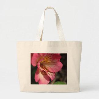 Peruvian lily (Alstroemeria aurea) Large Tote Bag